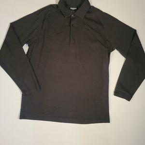 Bonobos Black's long sleeve polo size S